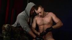Hunky Stallion Has A Lustful Guy Stroking His Throbbing Dick To Orgasm