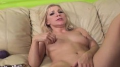 Irresistible blonde with a heavenly ass Ashley enjoys intense orgasms