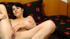 Hot Brunette Masturbation Solo Girl