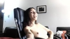 Slim Mexican girl live naked on webcam