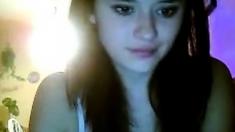 Brunette beauty teases on cam