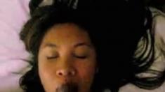 Hot Asian milf sucks big dick