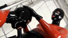 Lesbian In Latex And Strapon