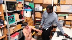 Gayshoplifter - Twink Fucked By Black Cock