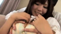 Japanese teen hairy twat drilled